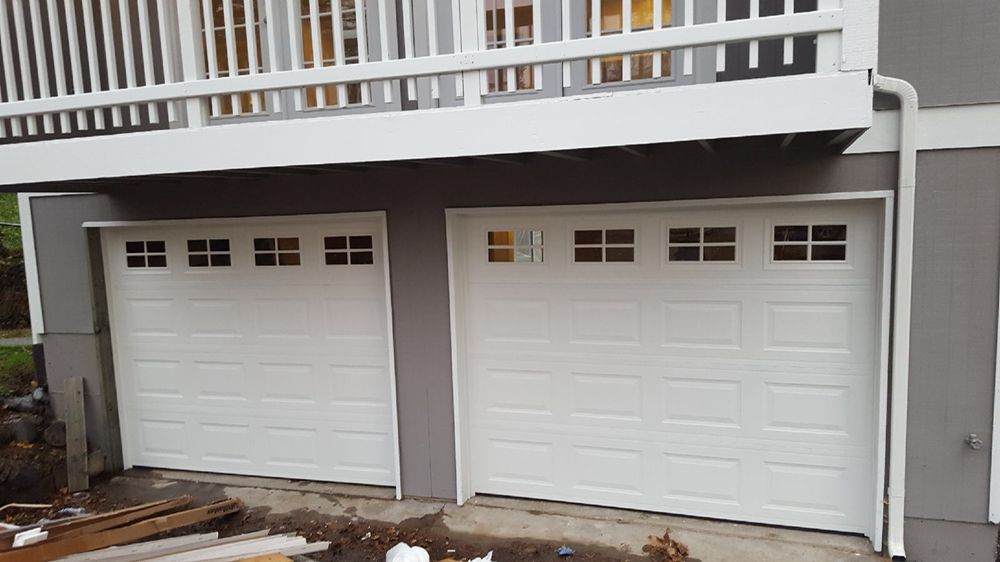 Newly Installed Garage Doors In Seattle Wa True White Doors Short