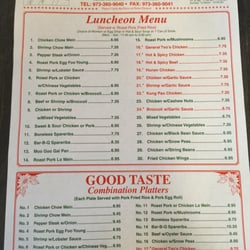 Mount Olive Chinese Restaurant Menu