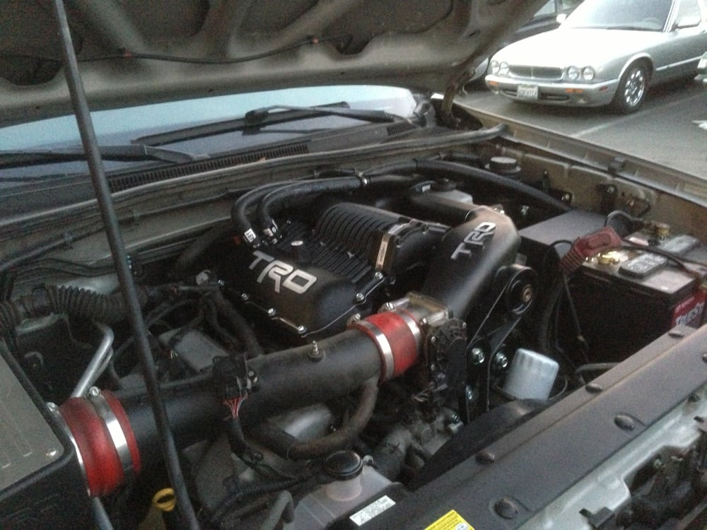 TRD SuperCharger install on a 2005 Toyota Tacoma 4.0L - Yelp