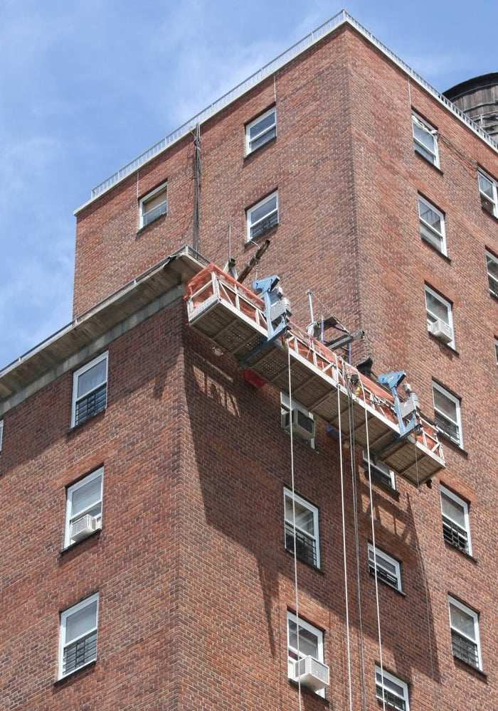 Swing Staging: 25-20 Borden Ave, Long Island City, NY