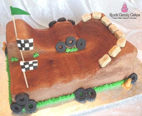 How To Make A Bmx Track Cake