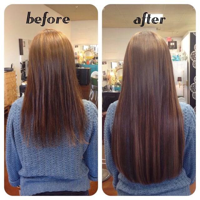 Before and after 22 keratin fusion hair extensions yelp photo of stacy anns scissor hands tempe az united states before and pmusecretfo Images