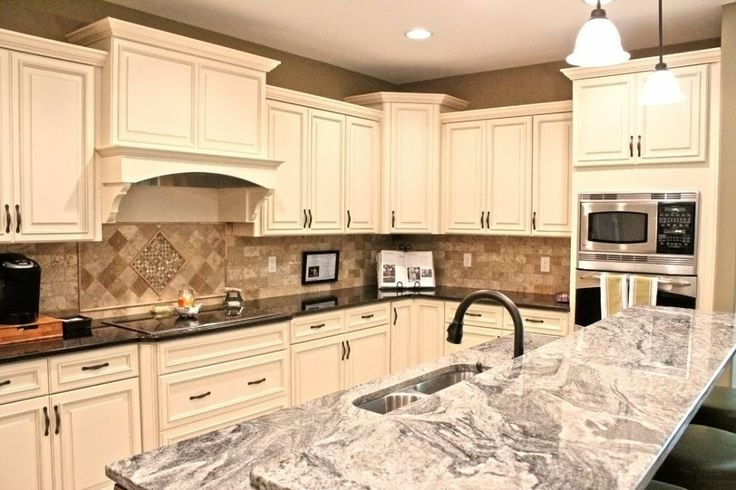 Antique White Maple Glaze Kitchen Cabinets - Yelp