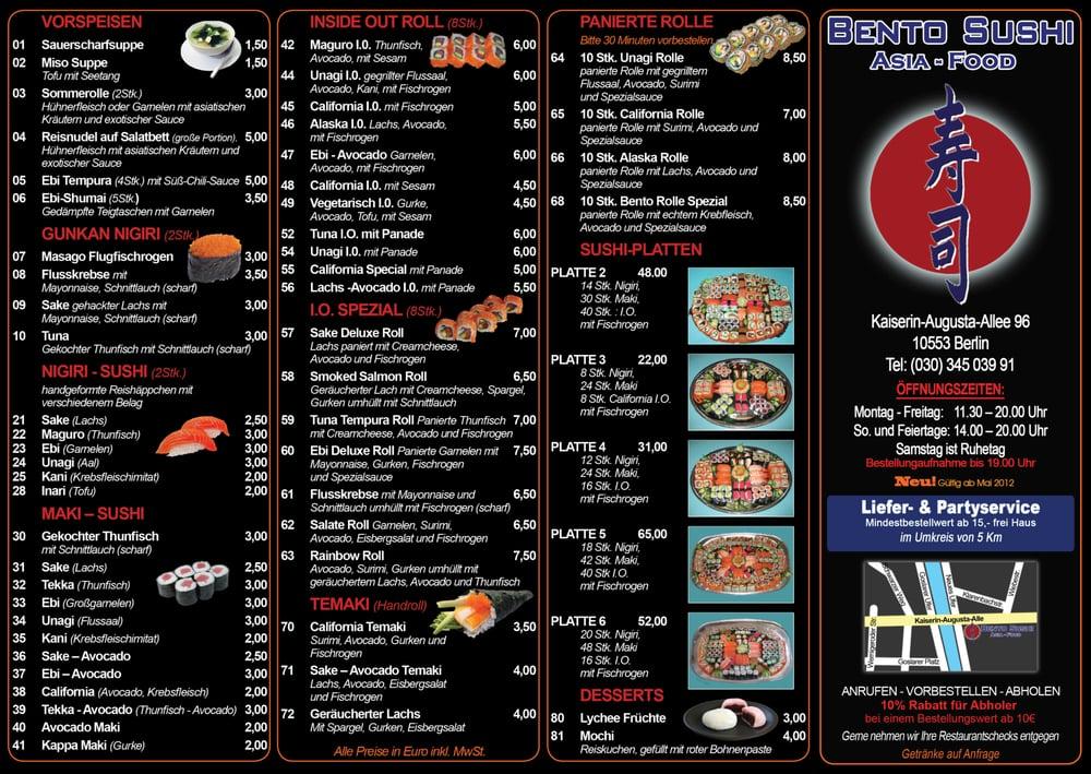 Bento Sushi Asia-Food - Sushi Bars - Kaiserin-Augusta-Allee 96 ...