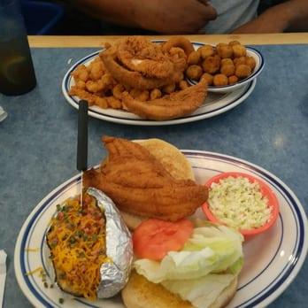 Photo Of Sea Breeze Douglasville Ga United States Catfish Sandwich Meal During