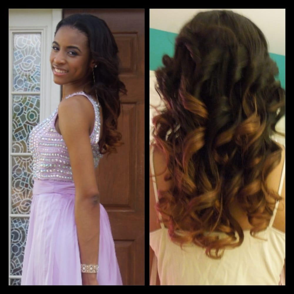 Prom Time Braidless Weave With Ombr Brazilian Hair Yelp
