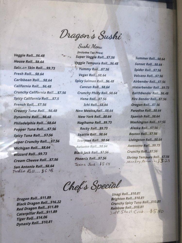 Dragon's Sushi Food Truck: 811 E Main St, Alice, TX