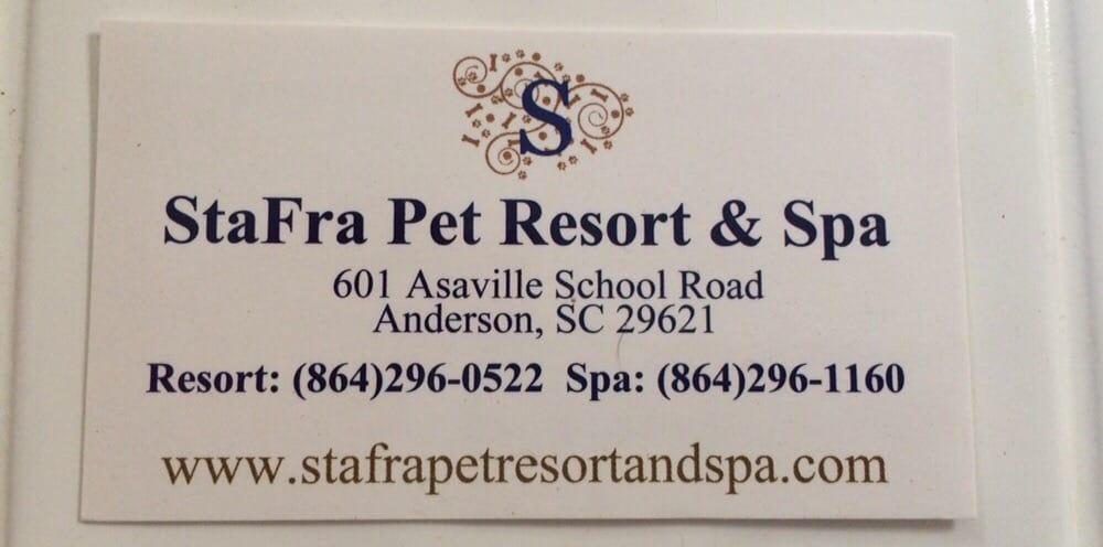 StaFra Pet Resort & Spa: 601 Asaville School Rd, Anderson, SC
