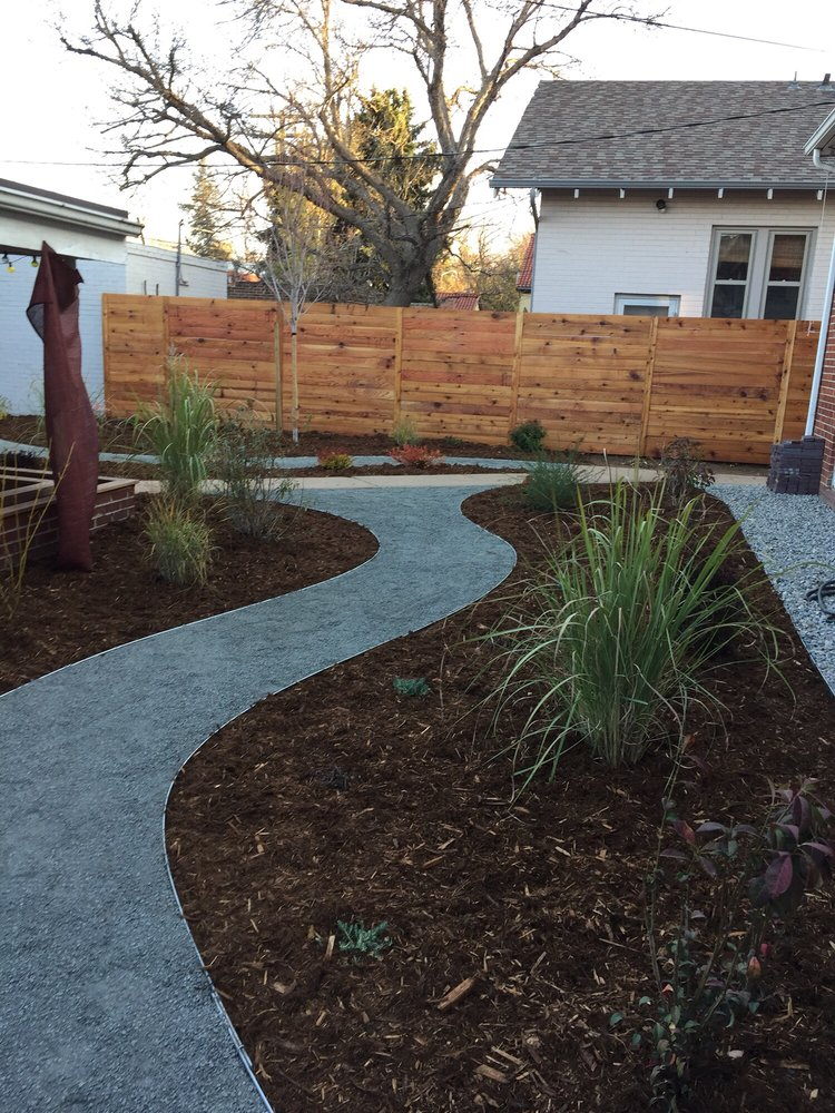 mulch with succulents and pea gravel walkway installed yelp