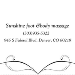 Sunshine Foot & Body Massage - CLOSED - Massage - 945 S
