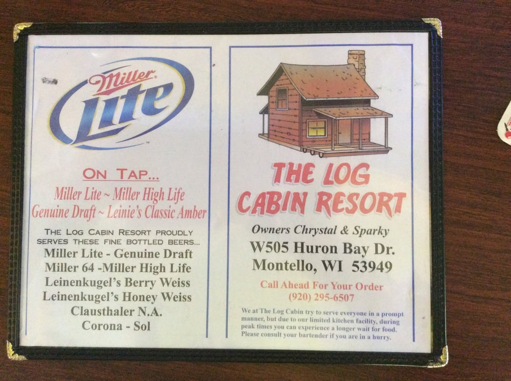 Log Cabin Resort & Tavern: W505 Huron Bay Dr, Montello, WI
