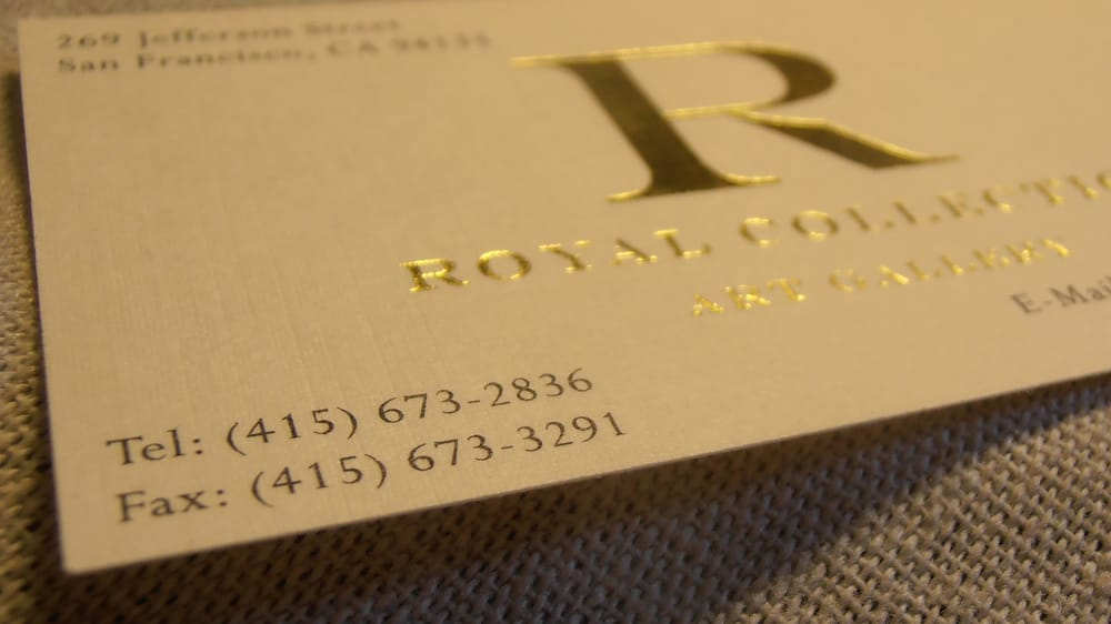Linen Business Cards with Gold Foil - Yelp