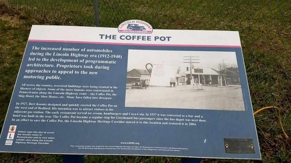 koontz coffee pot: 108 Telegraph Rd, Bedford, PA