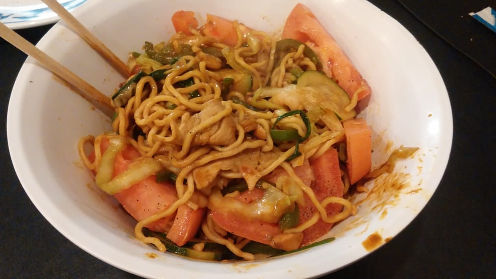 Food from Mongolian Bbq Express