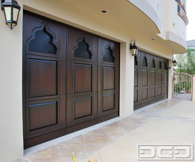 Indian Architectural Style Garage Door With Decorative
