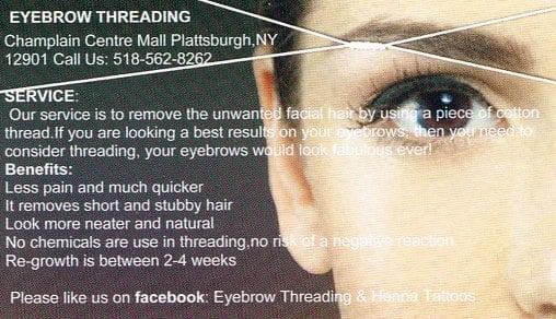 Eyebrow Threading Business Cards