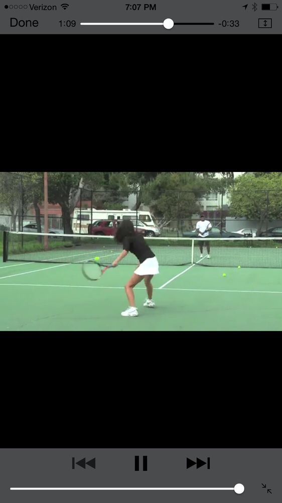 Photo of Tennis Lessons By Mcclain - San Francisco, CA, United States. Once again eyes on the ball knees bent for low ball