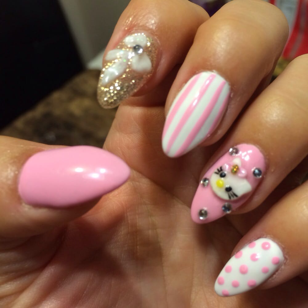 Nails done by Yvonne (and Hello Kitty by Mye) - Yelp