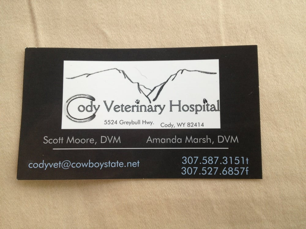 Cody Veterinary Hospital - Veterinarians - 5524 Greybull Hwy, Cody ...