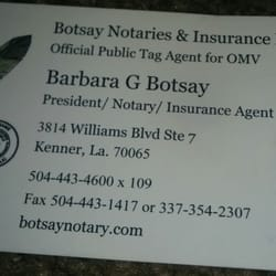 Botsay notary insurance network notaries 3814 williams blvd photo of botsay notary insurance network kenner la united states business reheart Choice Image