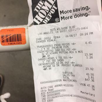 home depot receipt generator