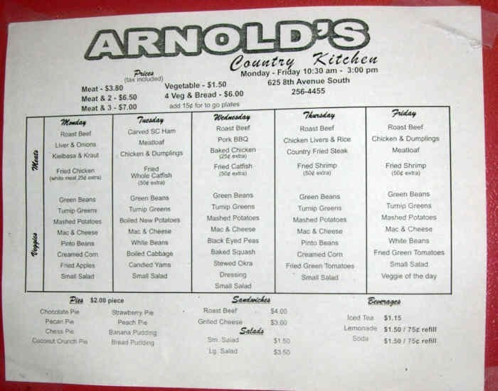 Arnold S Country Kitchen Nashville Tn
