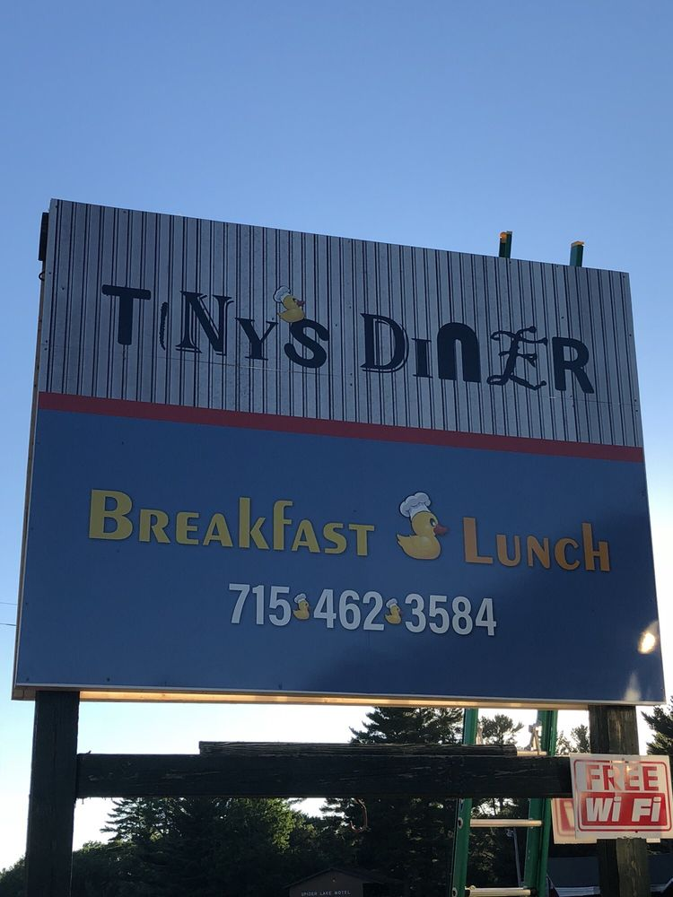 Tiny's Diner: 10193 W State Road 77, Hayward, WI