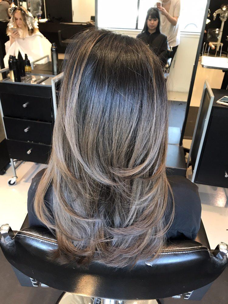 Haircut And Smoky Ash Brown Balayage By Chloe Yelp