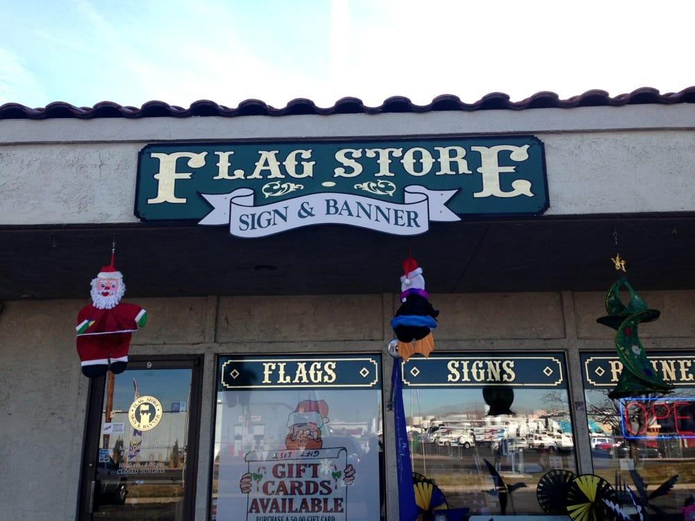 Flag Store Sign & Banner