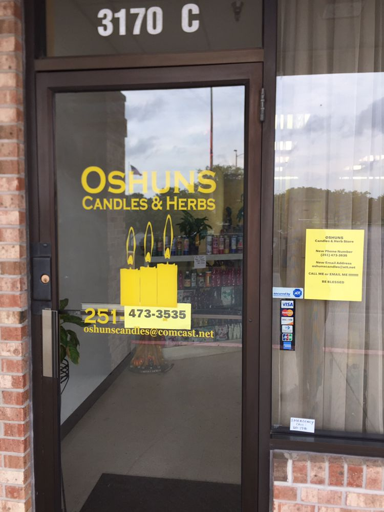 Oshuns Candles & Herb Store: 3170 Dauphin St, Mobile, AL
