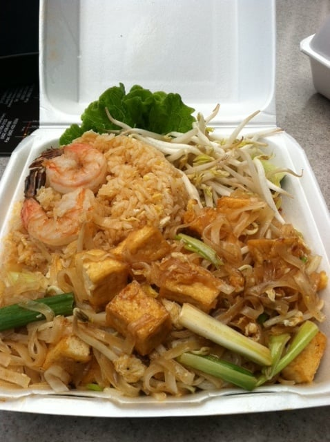 Wow togo lunch special tofu pad thai comes with fried for Aki japanese cuisine