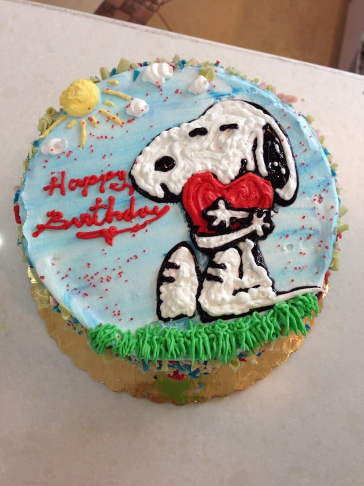 Snoopy My Favorite Birthday Cake So Far Yelp
