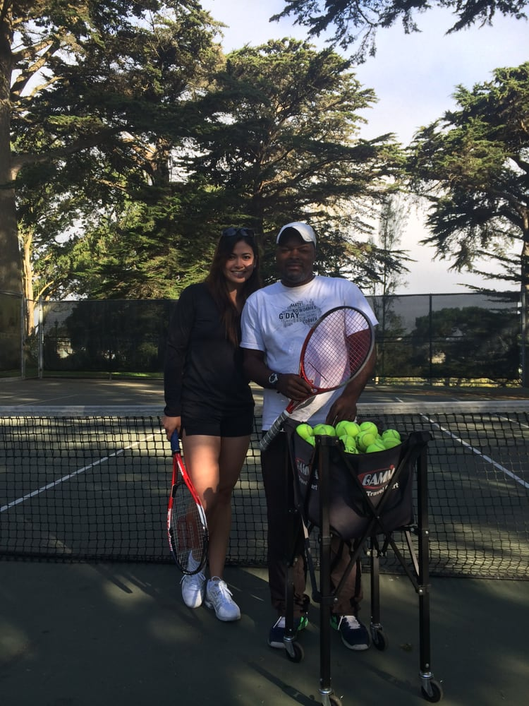 Photo of Tennis Lessons By Mcclain - San Francisco, CA, United States. coach Mcclain and Kristine