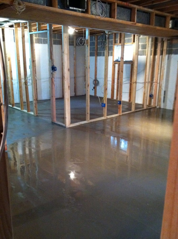 va united states leveling old basement floor with special cement