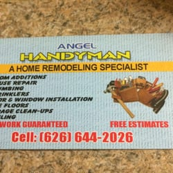 Angel Handyman Services - Handyman - Altadena, CA - Phone Number - Yelp
