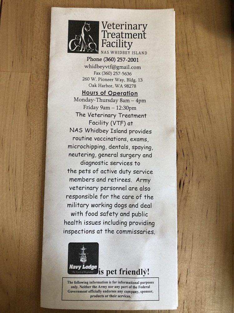 NAS Whidbey Island Veterinary Treatment Facility: 260 Pioneer Way, Oak Harbor, WA
