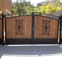 Wooden Fence Upgraded With Iron Post Caps How A Built Gate Confessions Of Serial Do It