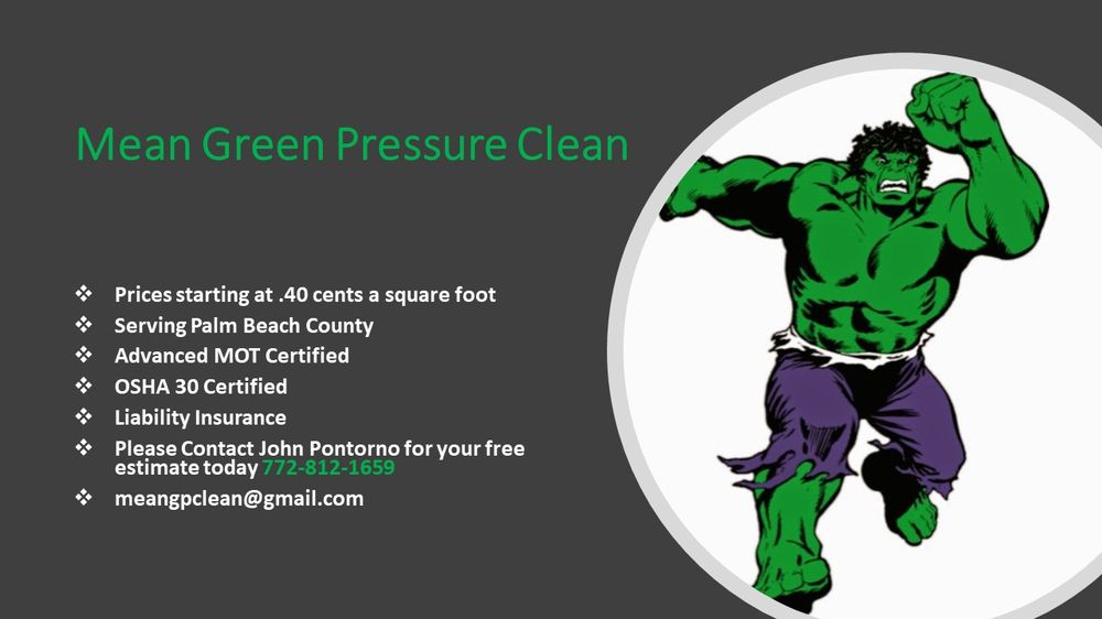 Mean Green Pressure Clean - Request a Quote - Pressure Washers