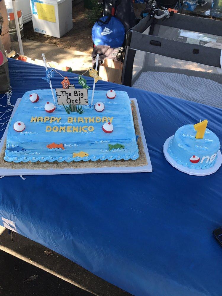 "Auto Service Near Me >> 1st Birthday ""The Big One"" fishing cake & smash cake. Everyone loved it!!!! - Yelp"