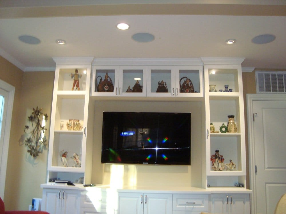 another beautiful home theater with lcd tv wall mount and. Black Bedroom Furniture Sets. Home Design Ideas