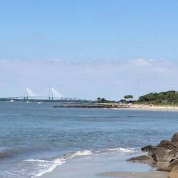 Photo Of Sullivan S Island Beach Sc United States Bridge In