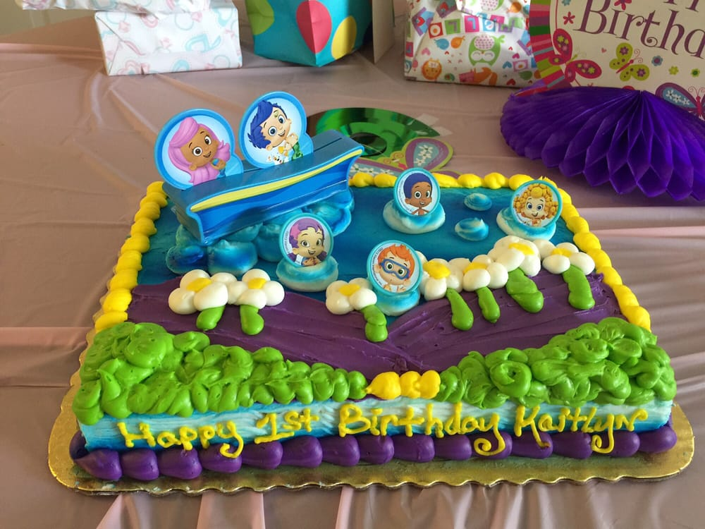 Bubble Guppies Happy Birthday Is On The Front So That The Cake