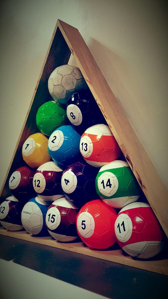 Snook Balls Official Size Soccer Balls For A Life Size Pool Table Yelp - Life size pool table