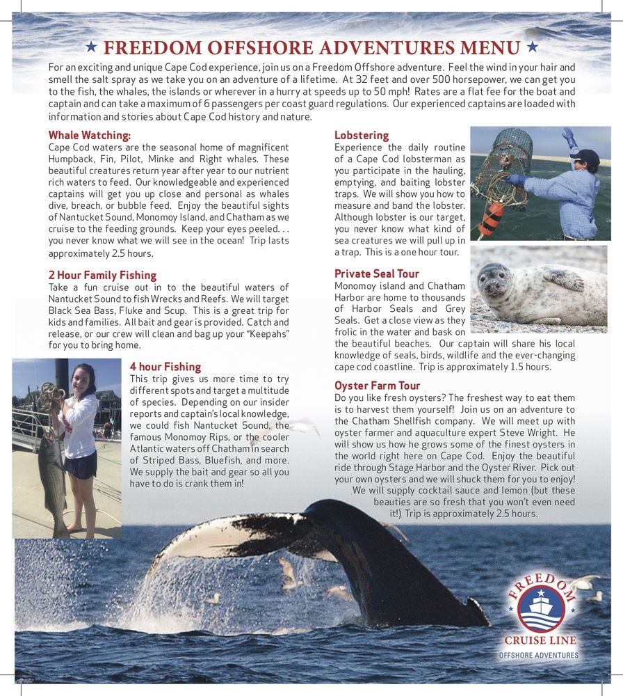 Freedom Offshore Adventures: 731 Rte 28, Harwich Port, MA