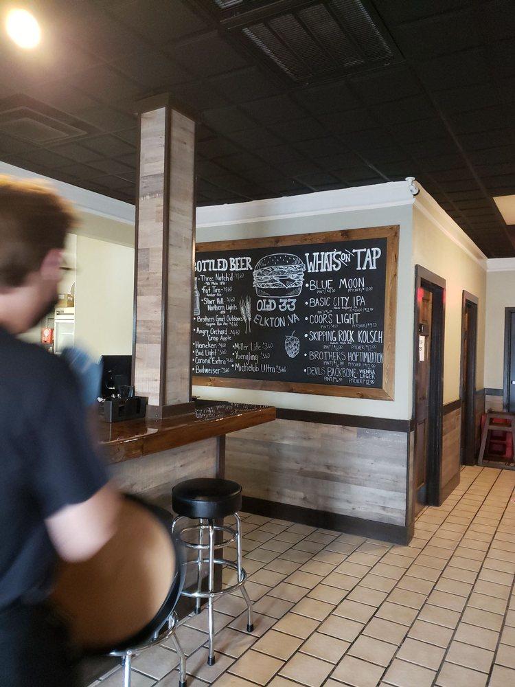 Old 33 Beer & Burger Grill: 159 W Rockingham St, Elkton, VA