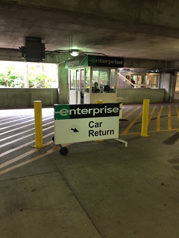 Rental-car Return Service Area At Enterprise, MCO, Florida