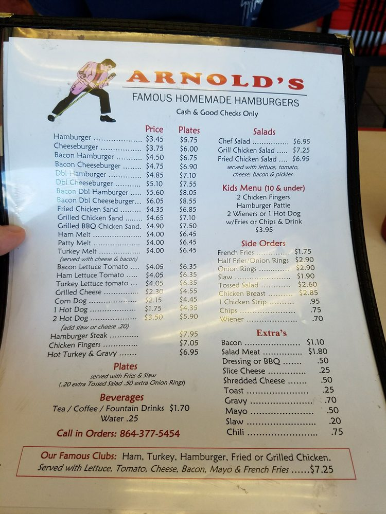 Food from Arnold's Famous Homemade Hamburgers
