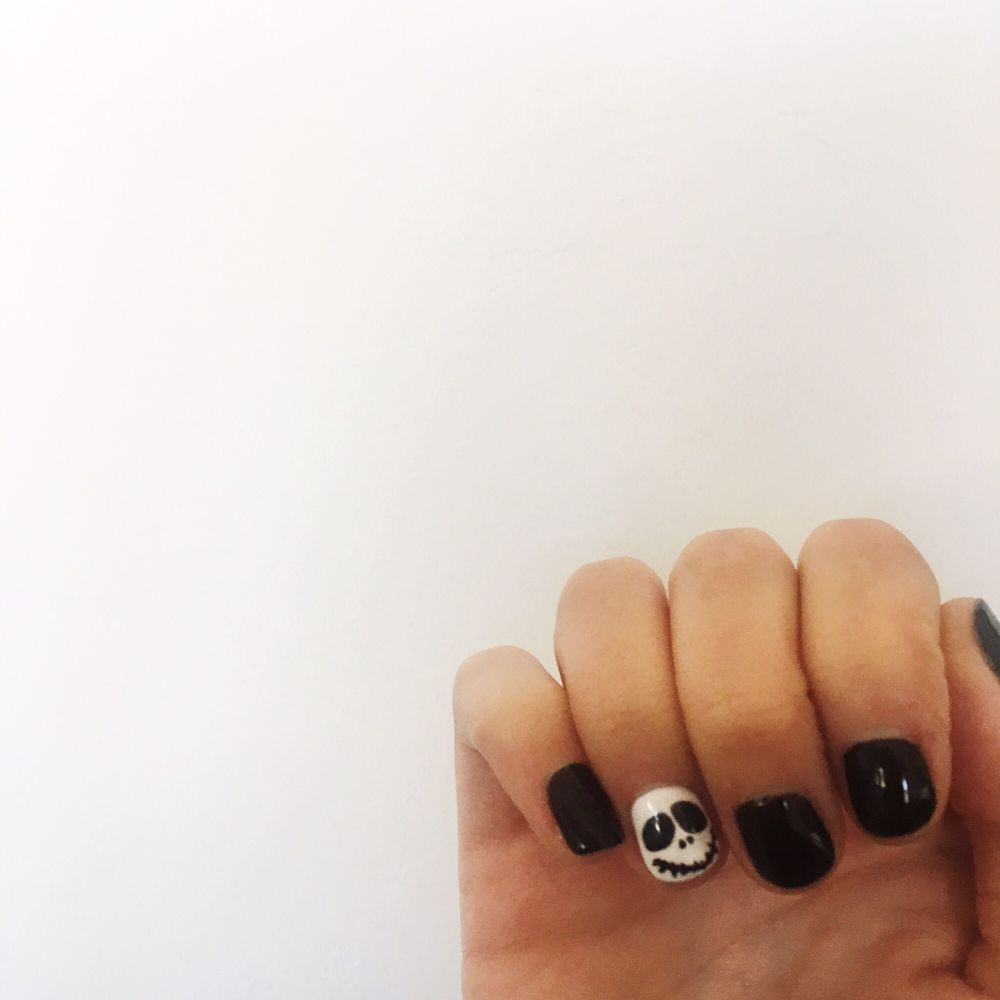 Jack Skellington Halloween nails done by the lovely Kim - Yelp