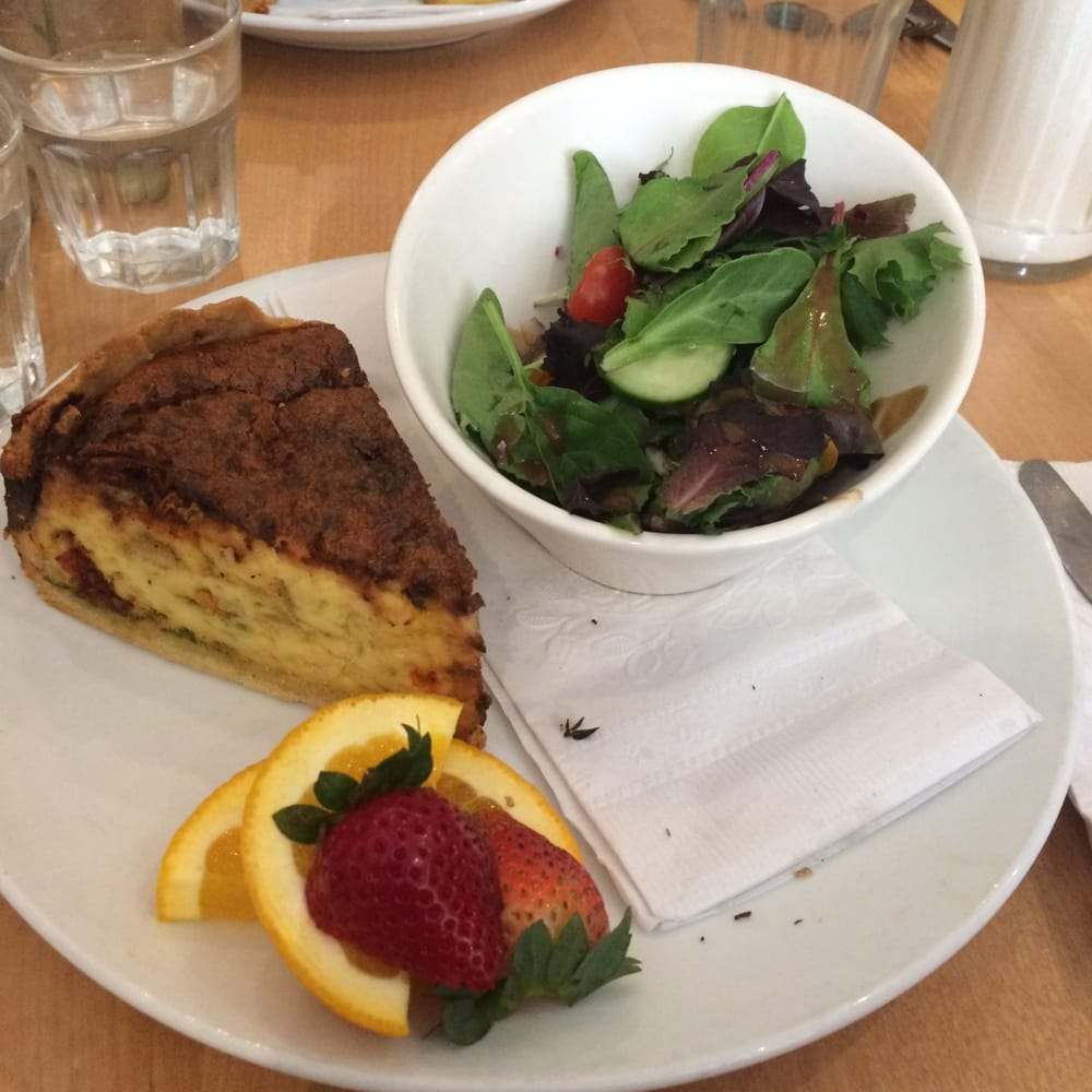Quiche With A Side Salad