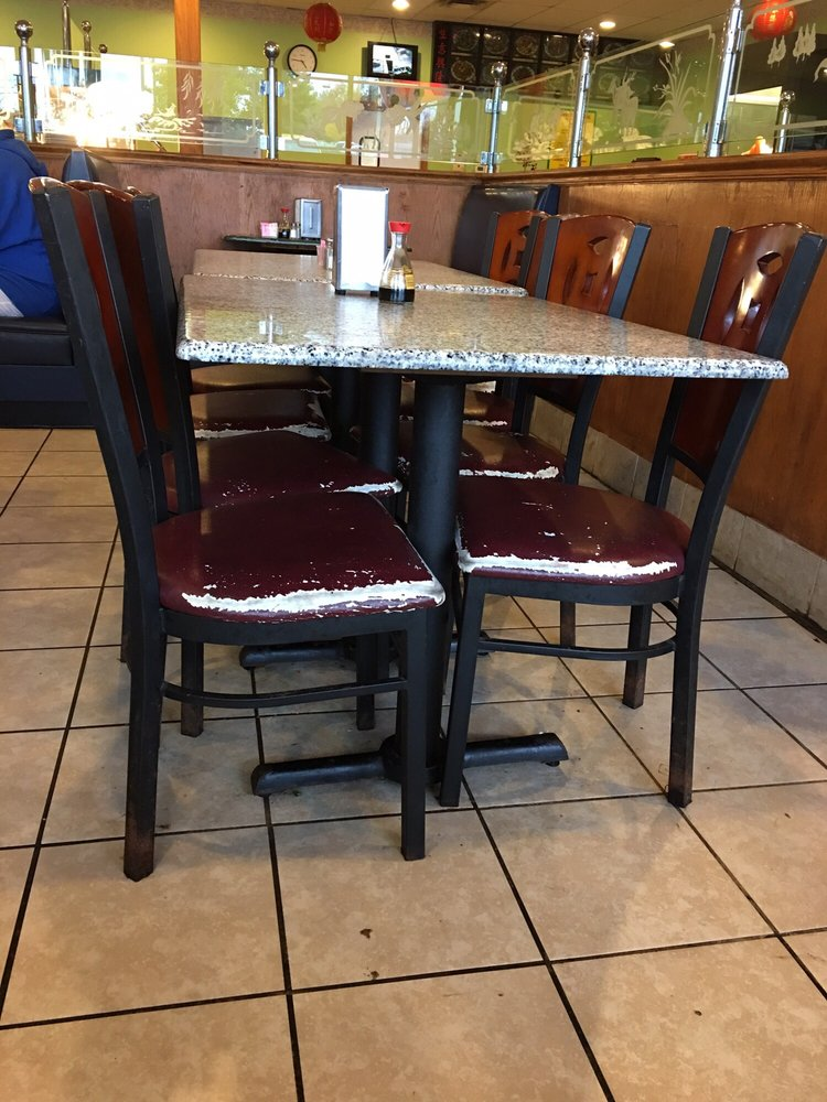 These chairs have seen better days yelp for China garden restaurant indianapolis in